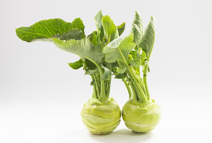 珍しい野菜1 ぽってりとした形がかわいい「コールラビ」