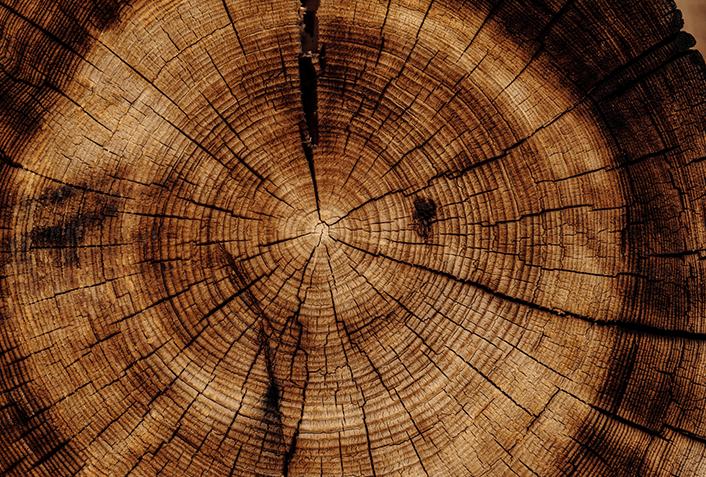 枕木の種類1.天然木製